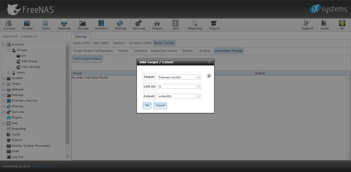 iscsi on freenas associate extents.png
