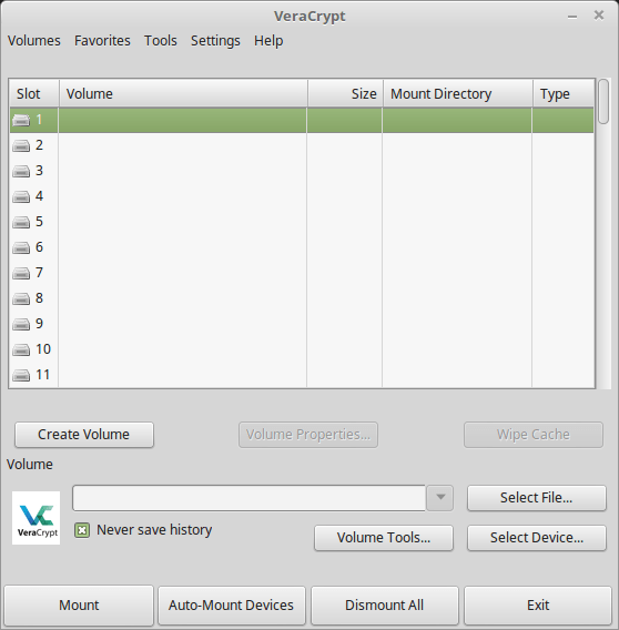 install Veracrypt 1.19 on Linux Mint 18.2