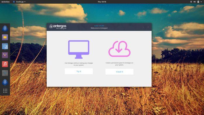 antergos 17.8 desktop