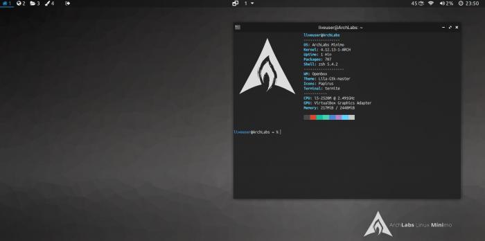 archlabs minimo screenshots