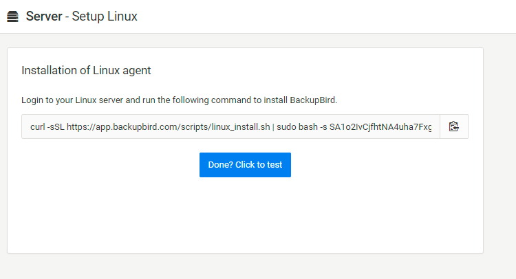 backup linux server to dropbox