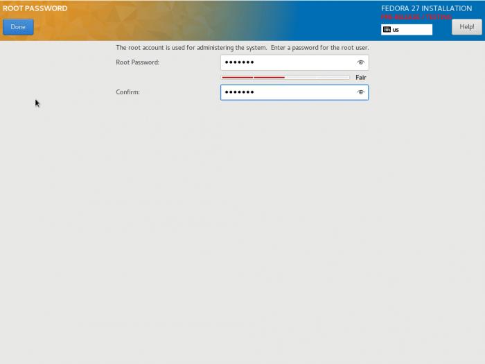 fedora 27 Server installation guide