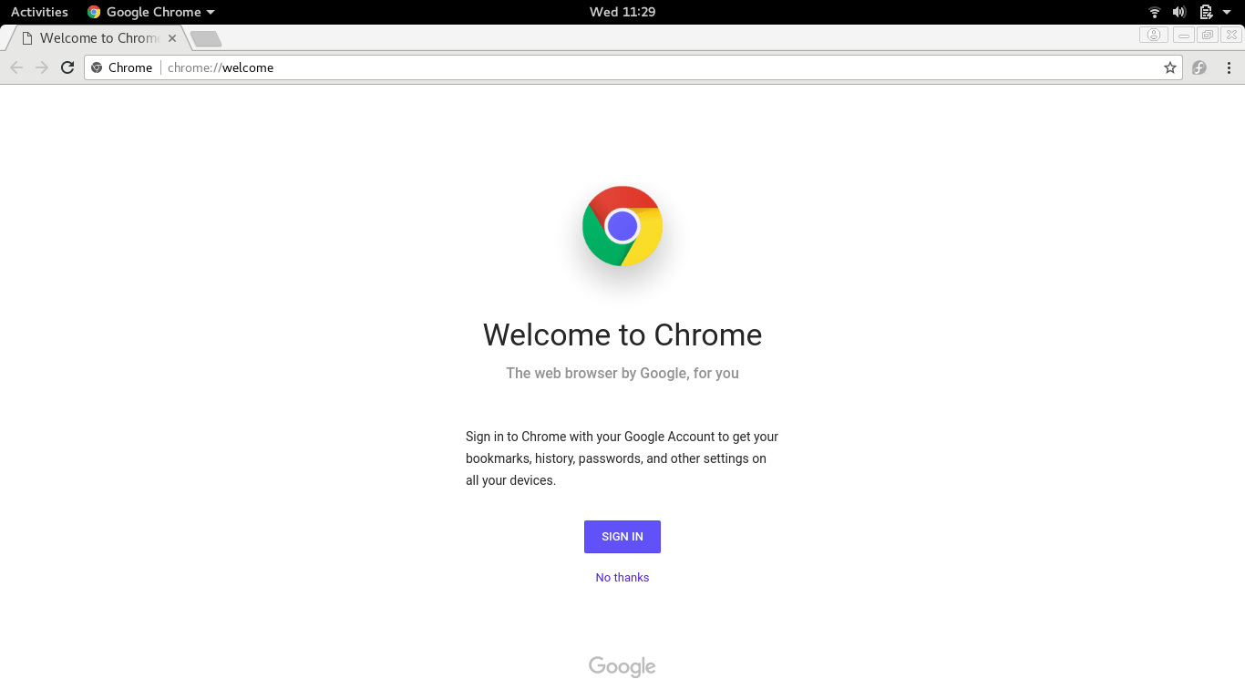 install google chrome on fedora 27