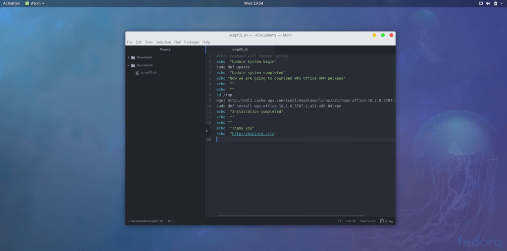 install atom on fedora 27 workstation
