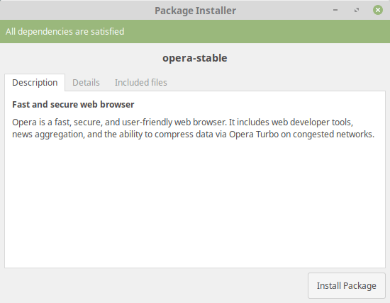 Install Opera 54 on Linux Mint 19