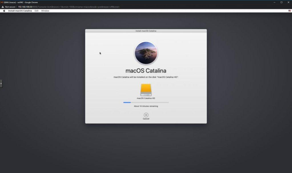 install macos catalina on proxmox