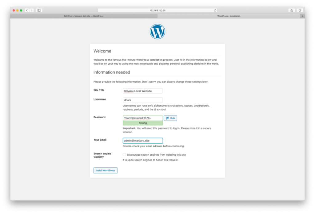 Install WordPress on Ubuntu 20.04