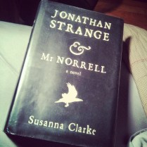 "25/100 (Jun 13, 2015) ""Jonathan Strange & Mr Norrell"" by Susanna Clarke. It may have taken a few false starts to get here, but after attempting since its publication in 2004, I have finally completed this text. It is somehow fitting that this marks #quarterwaythere for my goal. Enjoyable as it was, I think I've earned a foray into #Hogwarts next to bring me up to 1/3 of the way through. #bookfeet #100books #100bookchallenge #fortheloveofthepage #782pages #bucketlist #jonathanstrangeandmrnorrell"
