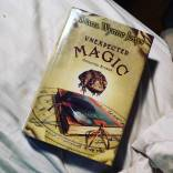 "99/150 (Oct 14, 2016) ""Unexpected Magic"" by Diana Wynne Jones. The novella is exceptional, possibly one of her best. No one writes like Jones. This was likely my last #librarybook before vacation comes, but maybe I'll squeeze in one more read before the plane takes off... As much as I horde books like Smaug with Dwarfish treasure, I really do rely on and am so grateful to have access to an amazing #publiclibrary system in #Connecticut. #useitorloseit #bookfeet #fortheloveofthepage #read2016 #loveyourlibrary #library"