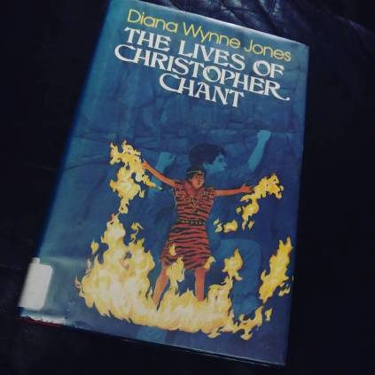 "136/100 (Dec 25, 2015) ""The Lives of Christopher Chant"" by Diana Wynne Jones. Rescued from a library sale for .50¢. Gotta love the 80s cover art. #100books #100bookchallenge #fortheloveofthepage #bookfeet"