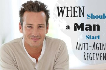 When should man start anti-aging regimen