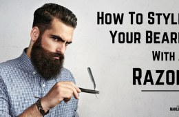 How to style a beard with a razor