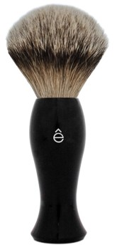 Badger Hair Brush Black Silvertip Zoom