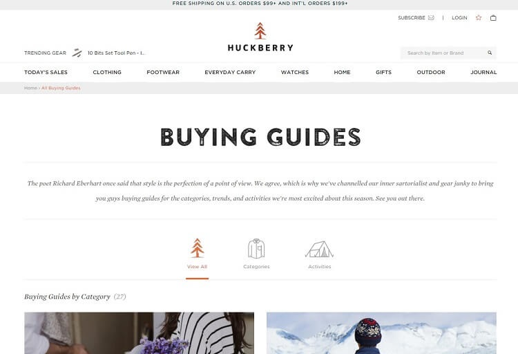 Huckberry is the ultimate shop for men