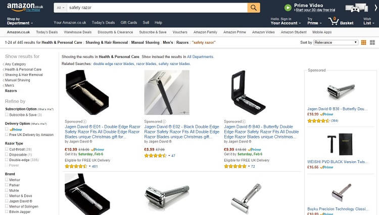 If based in Europe and dont know where to buy a safety razor check amazon uk