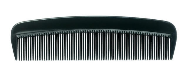 Plastic beard comb or brush with natural boar bristles