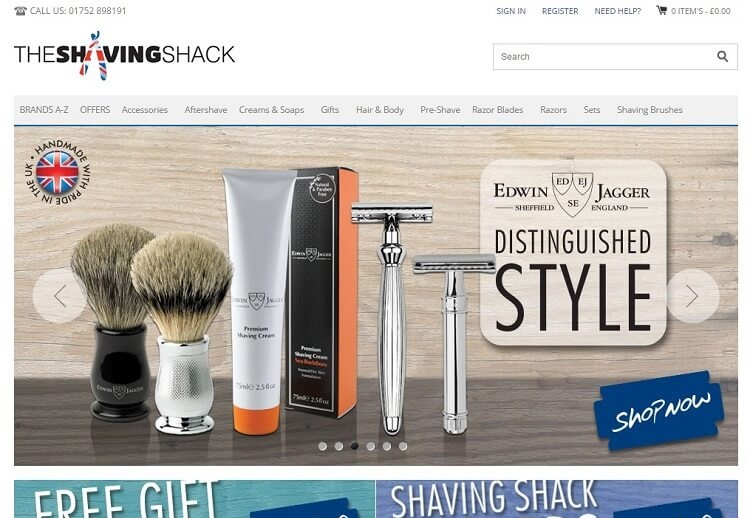 Shaving shack is great to buy a safety razor in UK