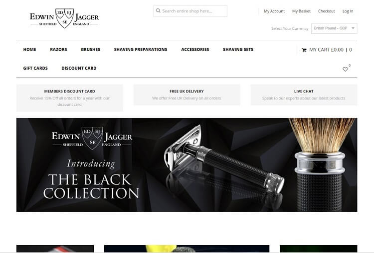official edwin jagger eshop to buy your wet shaving supplies