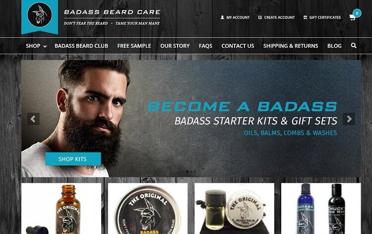 badass beard care company eshop
