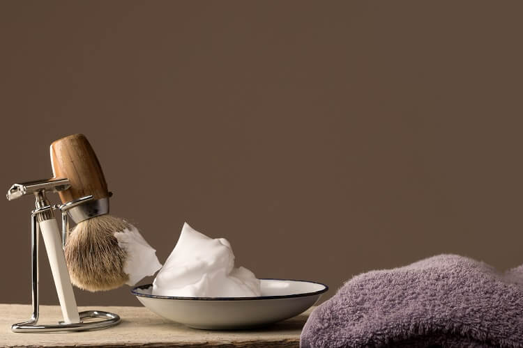 Use a soft hair shaving brush for a close shave avoding razor burn and shaving bumps