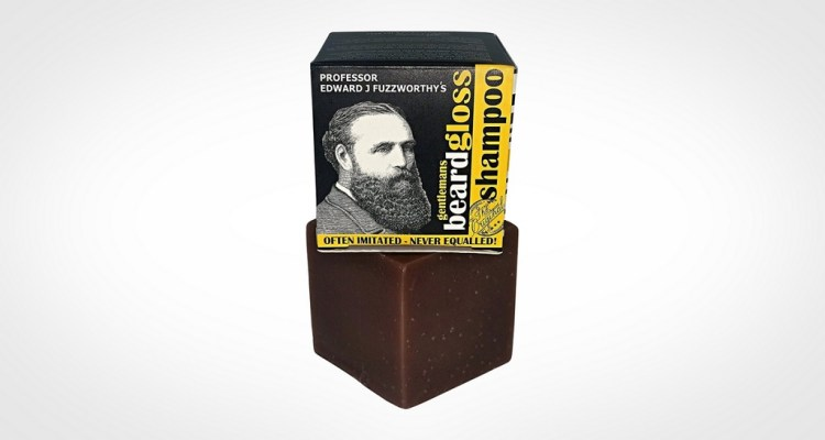 Best beard wash soap bar - Professor Fuzzworthy beard gloss shampoo bar soap