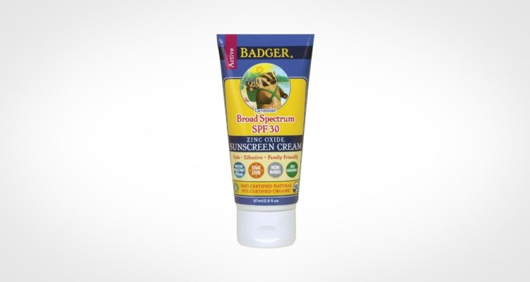 Badger Balm Lavender Sunscreen Cream for men