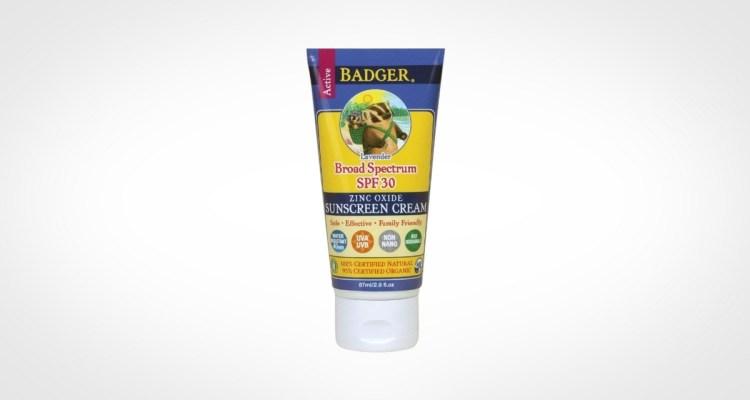 Badger Balm Lavender Sunscreen Cream for men