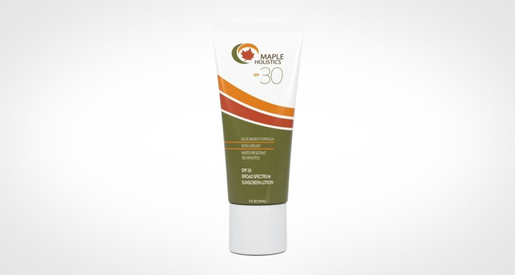 Maple Holistics sunscreen for men