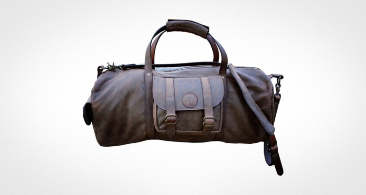 Bearded Blue Monkey Custom Leather Duffel Bag