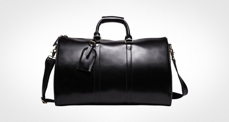 Leathario Mens Genuine Leather Overnight Travel Duffle