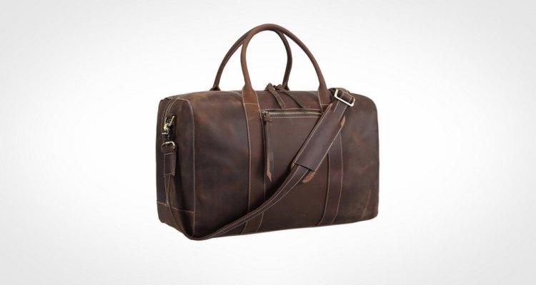 Polare Mens Genuine Leather Duffel Bag