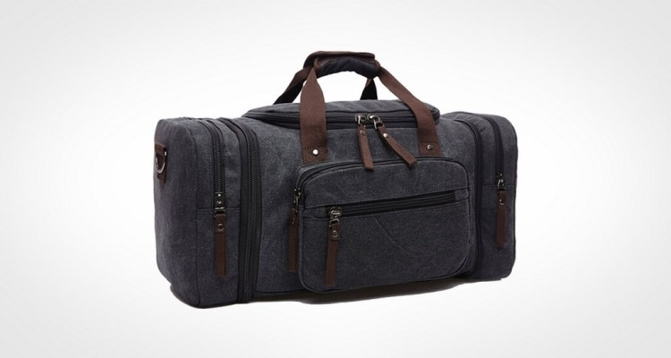 Toupons 20.8'' Large Canvas Travel Tote Luggage Men's Weekender Duffle Bag