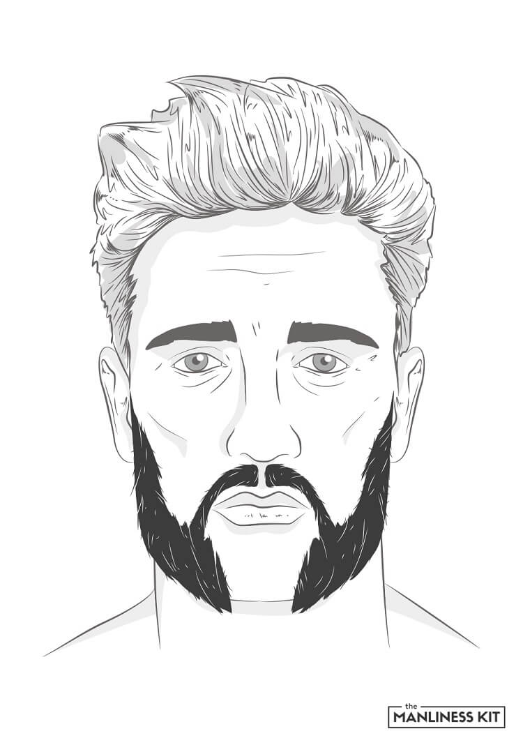 friendly mutton chops beard style