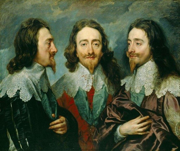 King Charles wearing a Van Dyke Beard Style