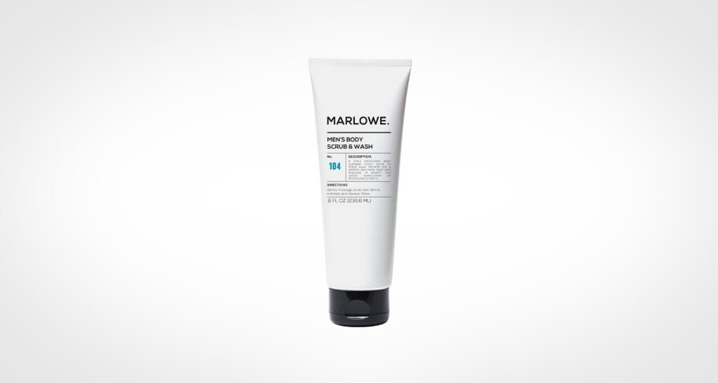 Marlowe men's body scrub and wash