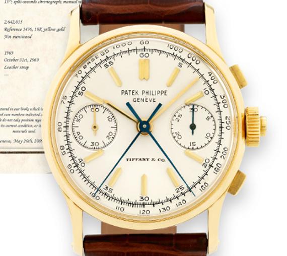 Split Seconds Patek Philippe Reference 1436 By Tiffany & Co.