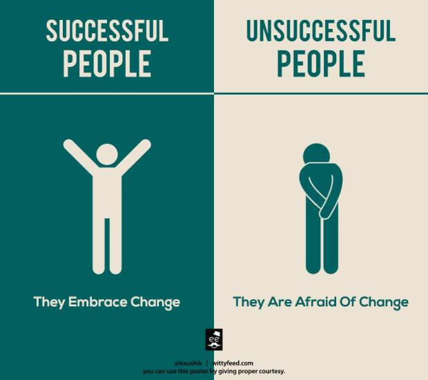 Successful People Embrace Change