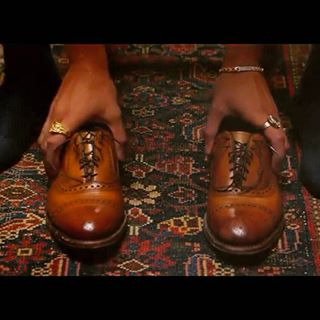 Jidenna's brogue shoe in Classic Man