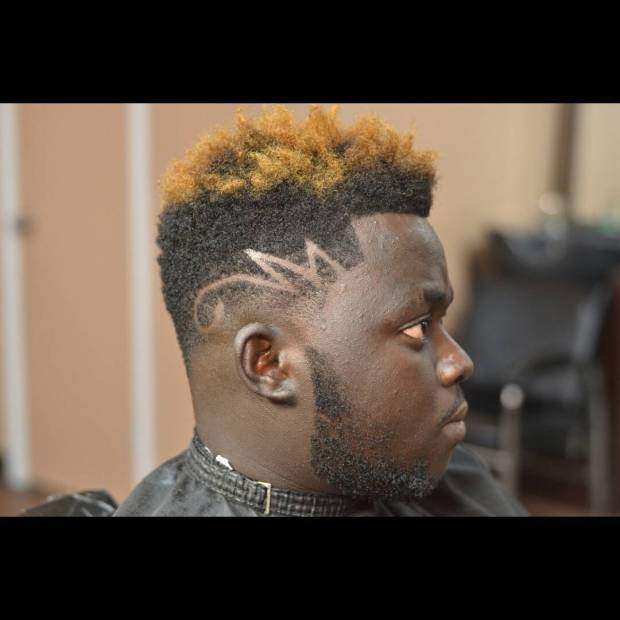 mohawk nigerian man barber hairstyle