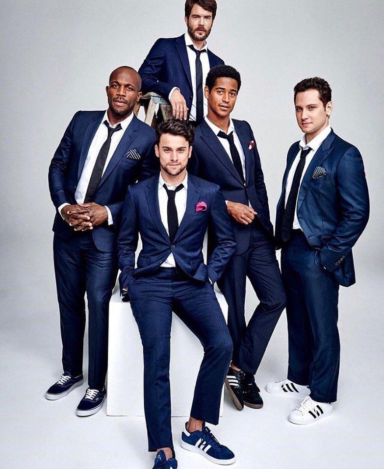 actors in navy blue suit