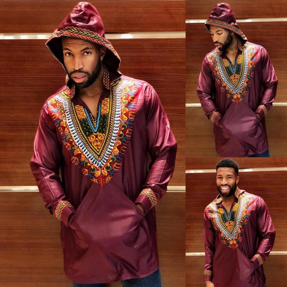 dashiki long sleeve with hoodie