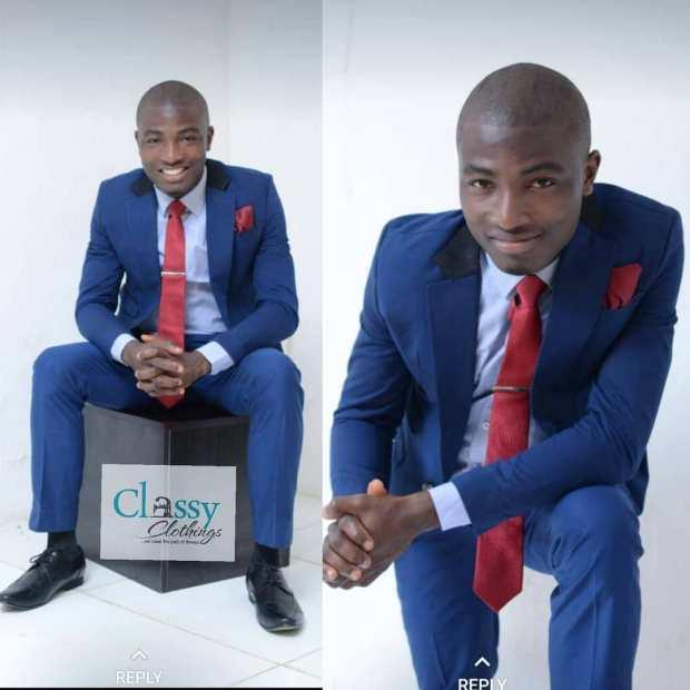 navy blue suit with wine necktie