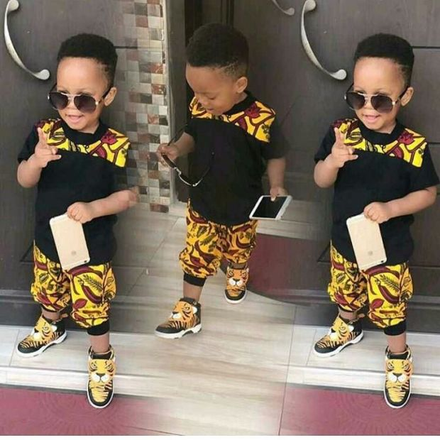 black and yellow ankara styles for baby boy
