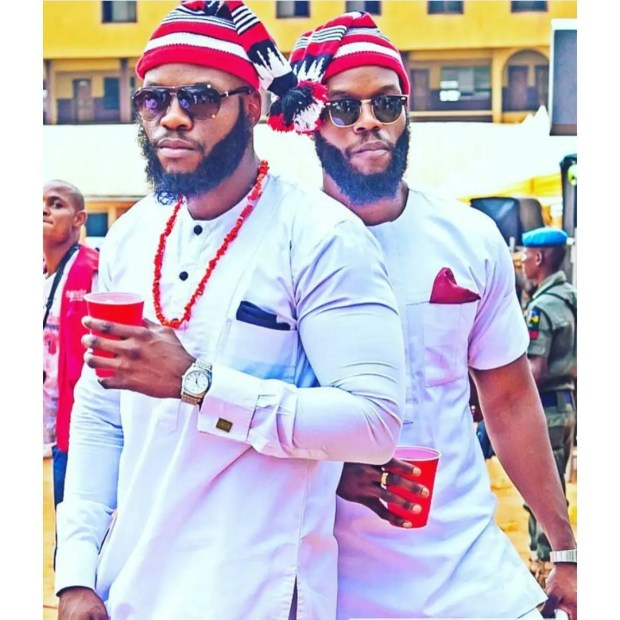 igbo men in traditional outfit