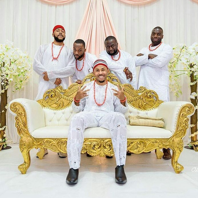 igbo groom traditional wear in all white