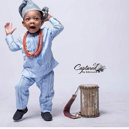 Powder blue senator wear for baby boy