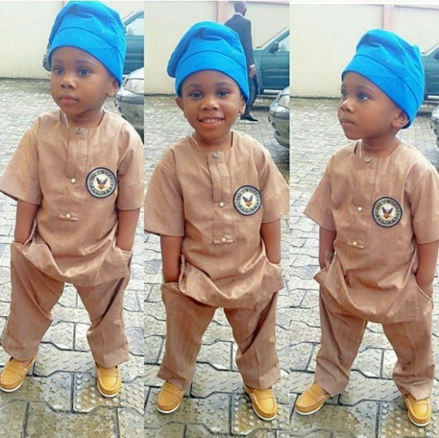 blue and brown senator wear for baby boy