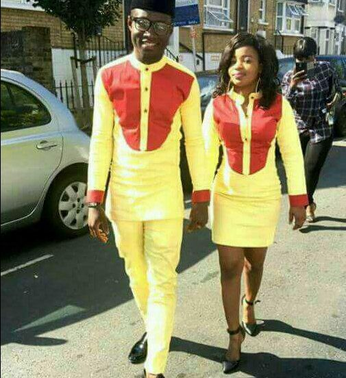 senato styles for couples red and yello