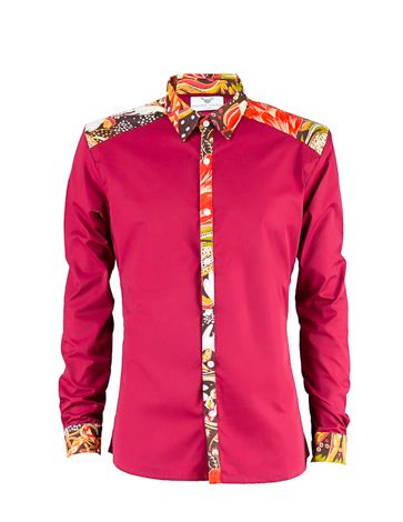 pink kitenge highlighted shirt
