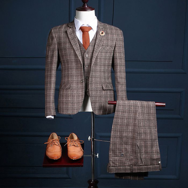 checkered suit for men